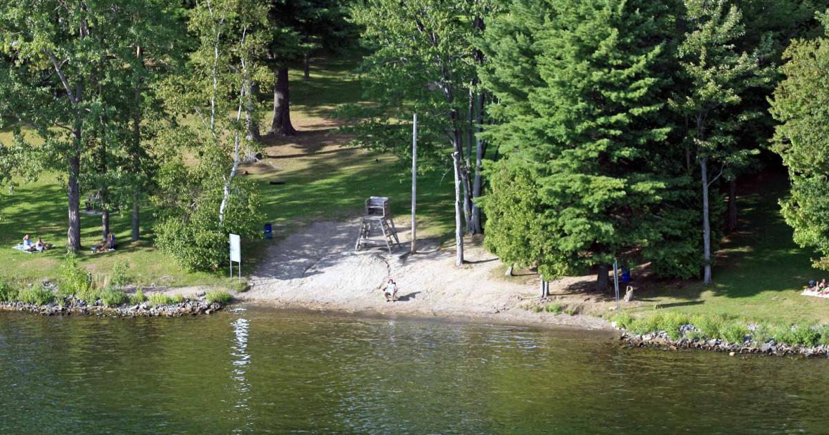 Municipal beach park deauville region sherbrooke eastern