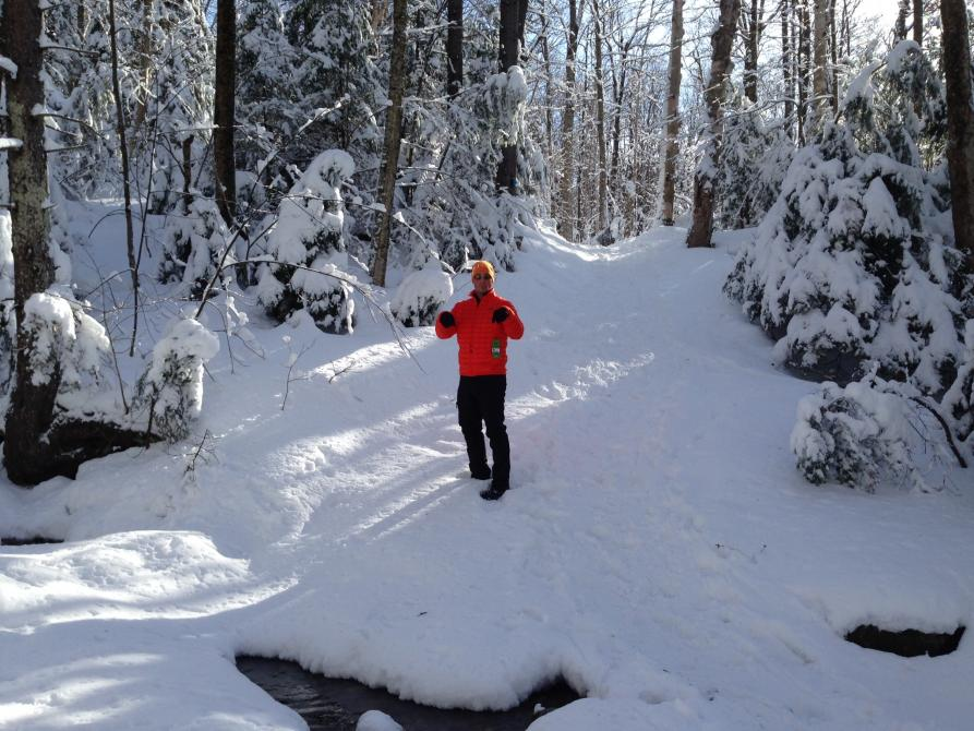Sentier A/C winter hiking:
