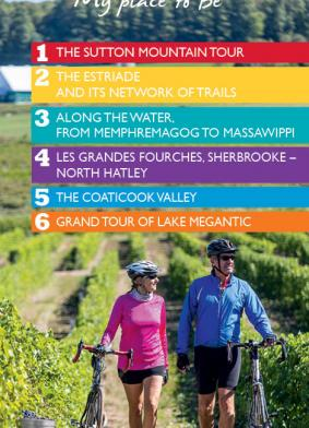 Cycling Eastern Townships map 2017-2019