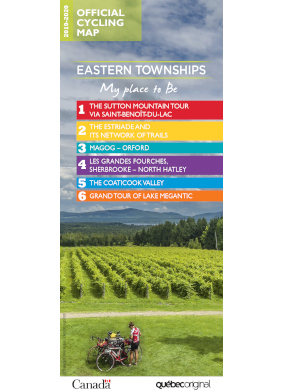 Cycling Eastern Townships map 2019-2020