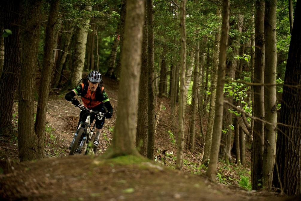 Circuits Frontières - East Hereford: A 50 km mountain biking trail network for all levels including 13 km of exciting flowing singletracks built by ADSVMQ in the past 3 years. In the Quebec's Top-10 of the best mountain biking places
