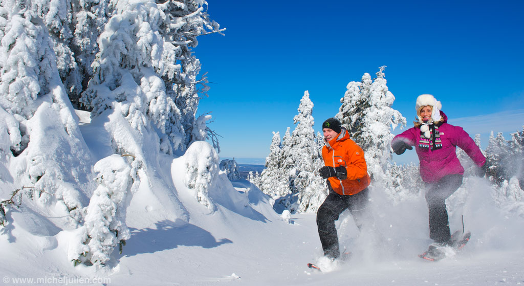 Auberge-Spa Le Madrigal: Snowshoeing in Bromont