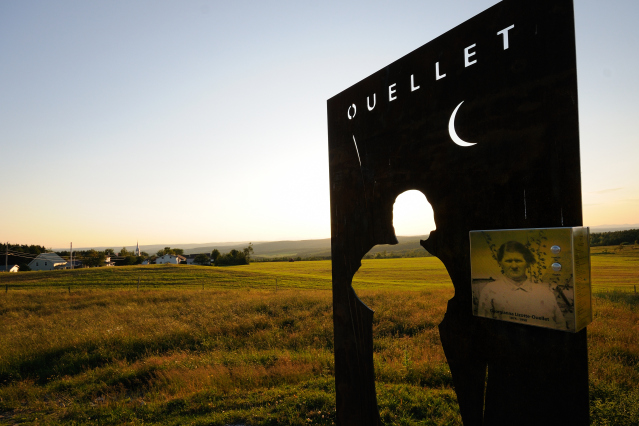 Lizotte-Ouellet's shadow: Visit the Pioneer's Trail to hear the fabulous story of Georgianna Lizotte-Ouellet.
