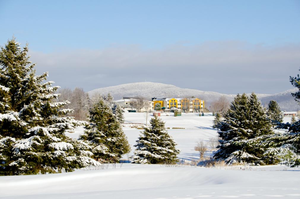 Winter view of the Auberge 2: