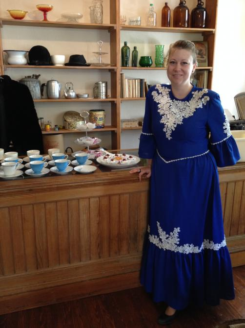 Tea time: Tea time by the tourism office at Lambton presbytory