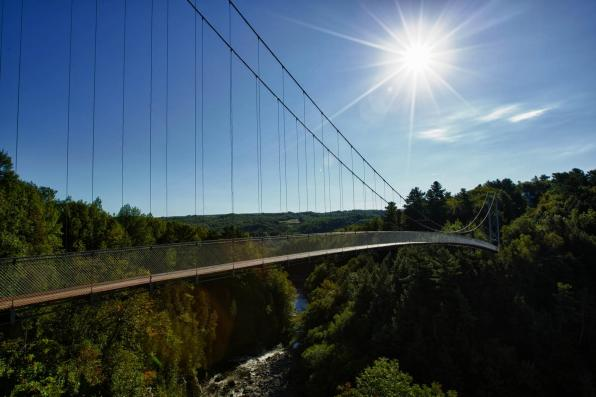 Coaticook Gorge Suspension Bridge