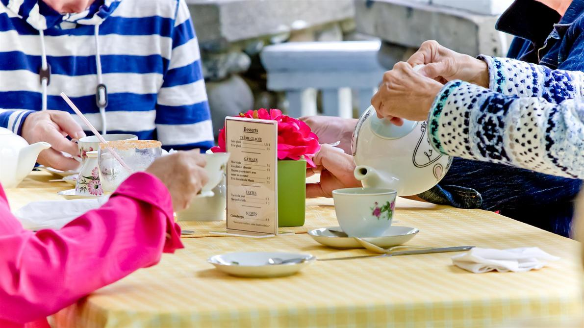 Musée Beaulne: Afternoon tea at the museum