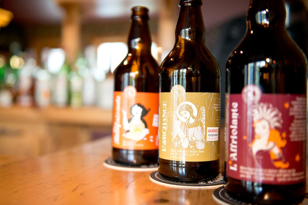 A wide range of local Quebec beers: 