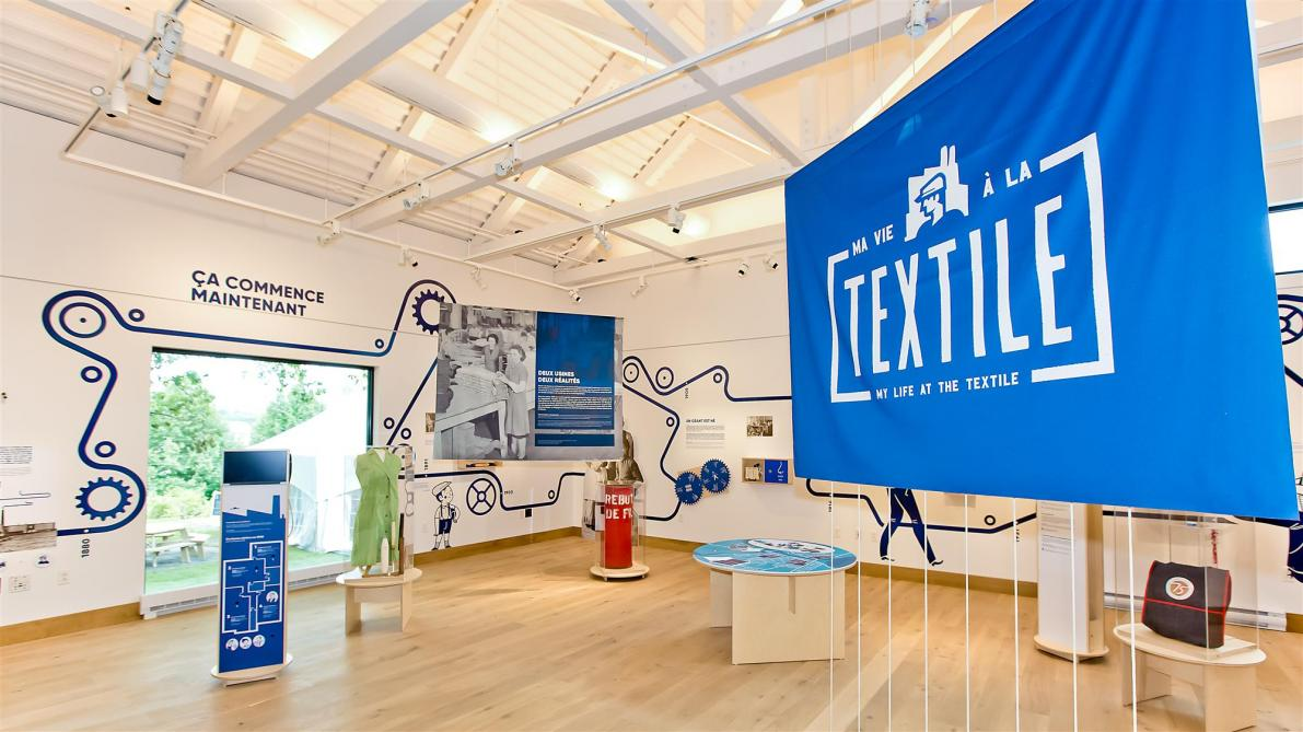 My Life at the Textile (until spring 2020): Work, fun, and rebellion… Through our first temporary exhibition, discover the day-to-day lives of Magog's textile workers and listen to their moving accounts of the past.