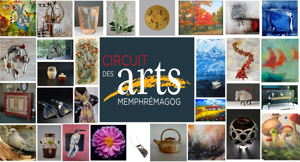 Circuit des arts 2020: Tour artists' workshops and visit a visual arts exhibit. Collective exhibit from July 15 to 26, 2020.