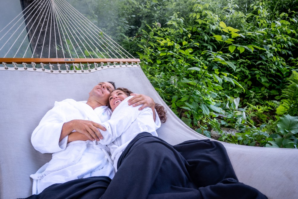 Riverside hammocks at Spa Bolton: